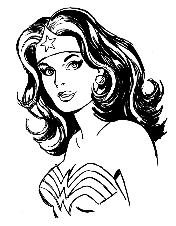 Wonder Woman Clipart Black And White & Free Wonder Woman.