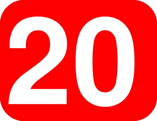 Number 20 Red Background Clip Art at Clker.com.