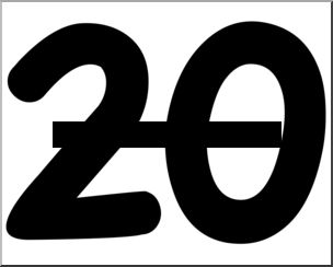 Clipart of the number 20.