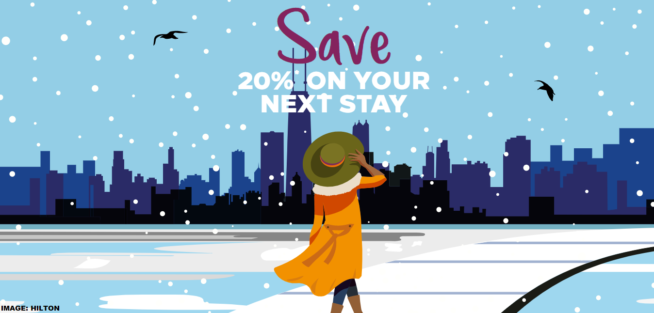 Hilton Honors Select US Cities 20% Off Winter Flash Sale For.