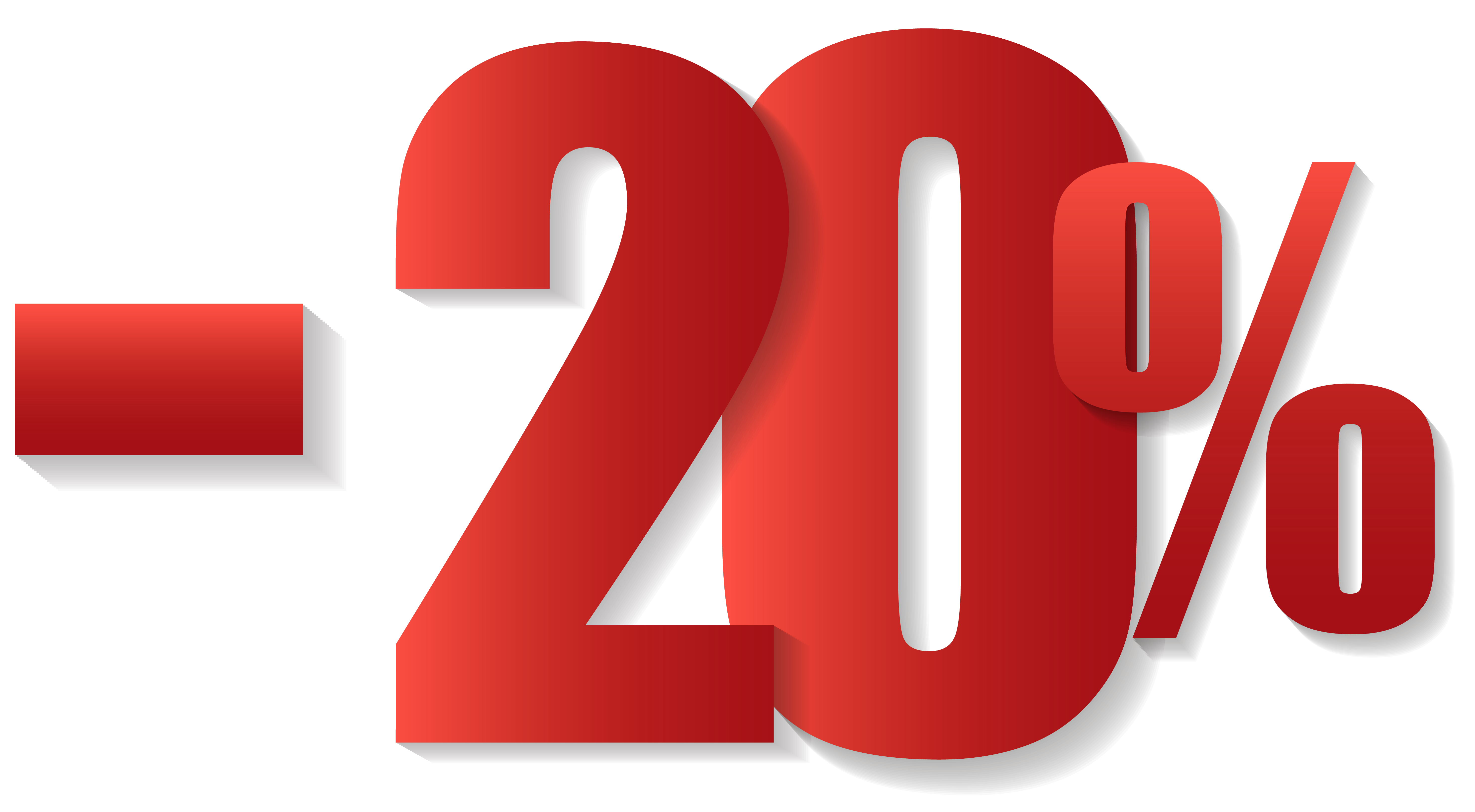 20% Off Sale PNG Clipart Image.