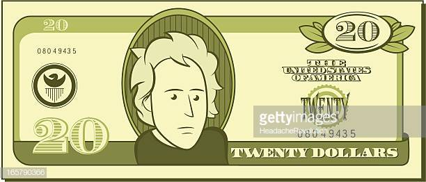 46 Twenty Dollar Bill Stock Illustrations, Clip art, Cartoons.