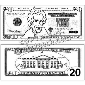 20 dollar bill clipart 2 » Clipart Station.