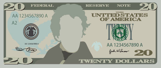 Best Twenty Dollar Bill Illustrations, Royalty.