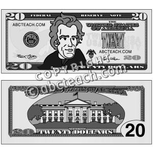 Twenty Dollar Bill Clipart.