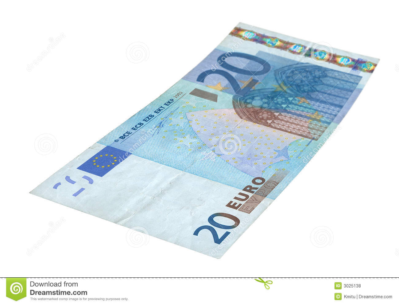 20 Euro Banknote Royalty Free Stock Photos.