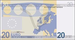 note 20 euro.