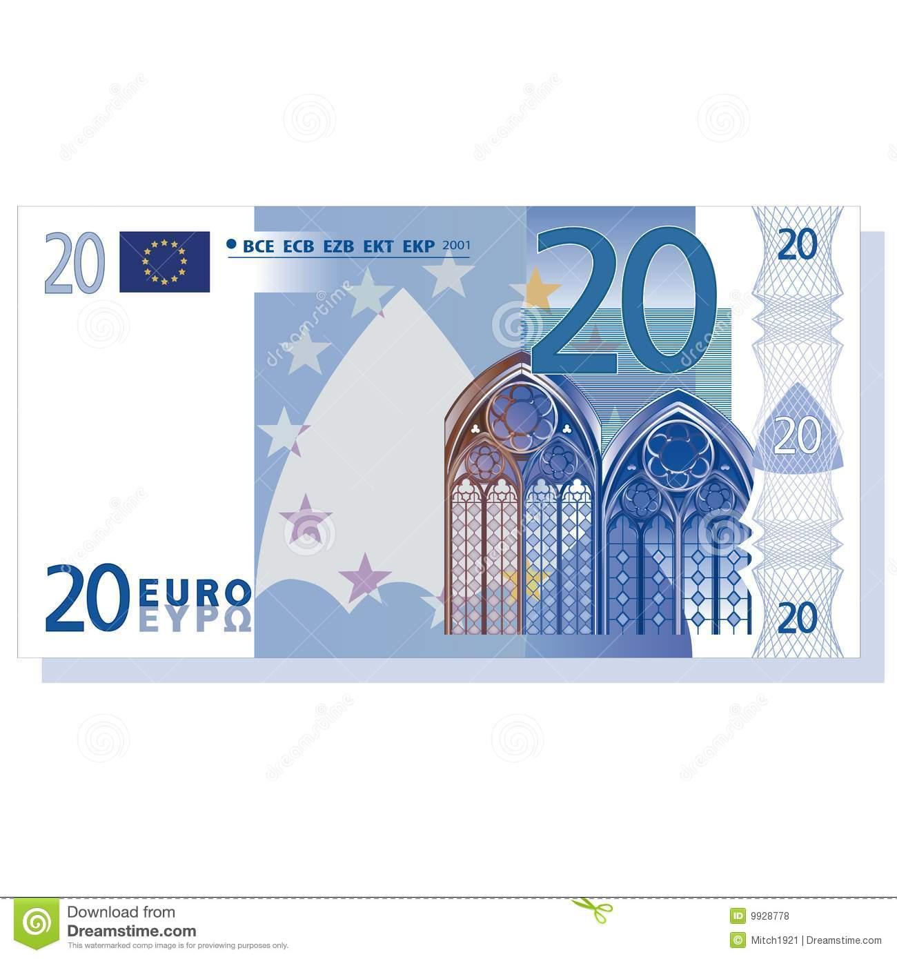 Euro Banknote Royalty Free Stock Photos.