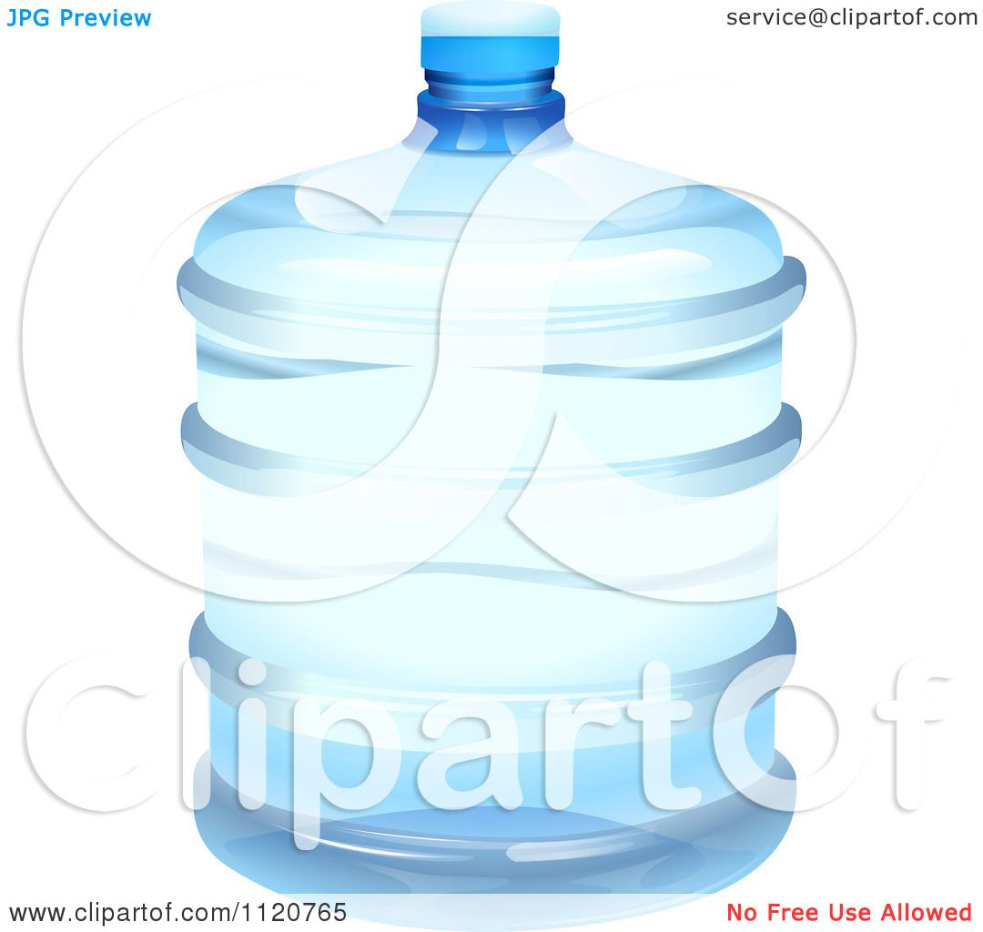 Cartoon Of A Five Gallon Bottle Of Water.