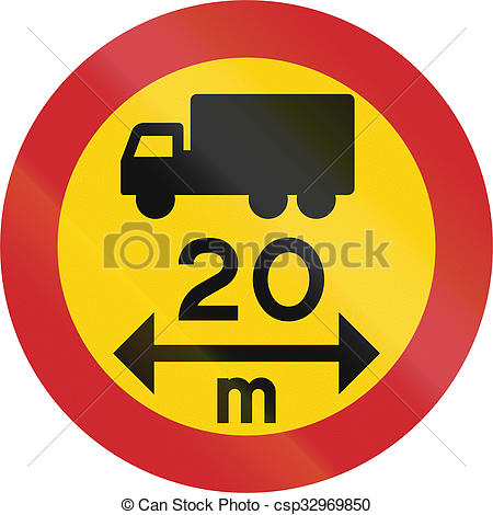 Stock Images of Road sign used in Sweden.