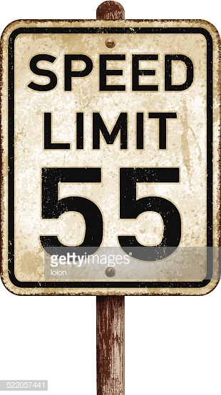 American Maximum Speed Limit 20 Mph Road Sign Vector Art.