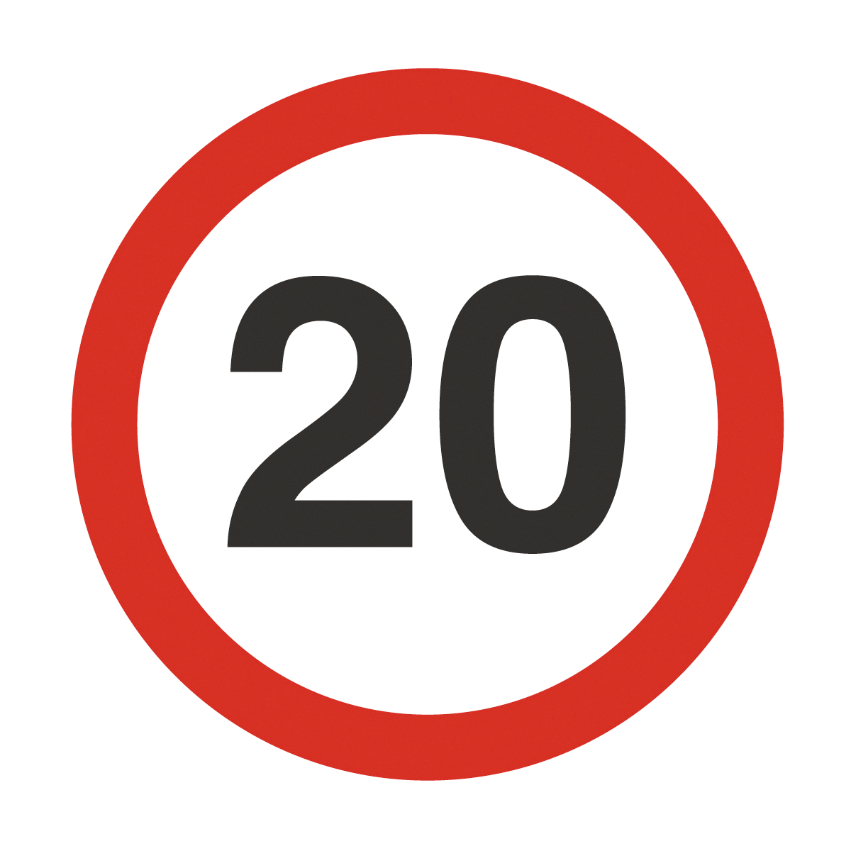 20 Mph Safety Sign.