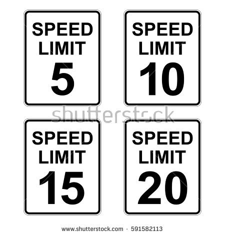Speed Limit Sign Stock Images, Royalty.