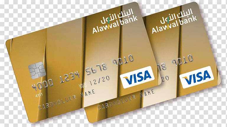Alawwal Bank Credit card Personal finance, gold pattern card.