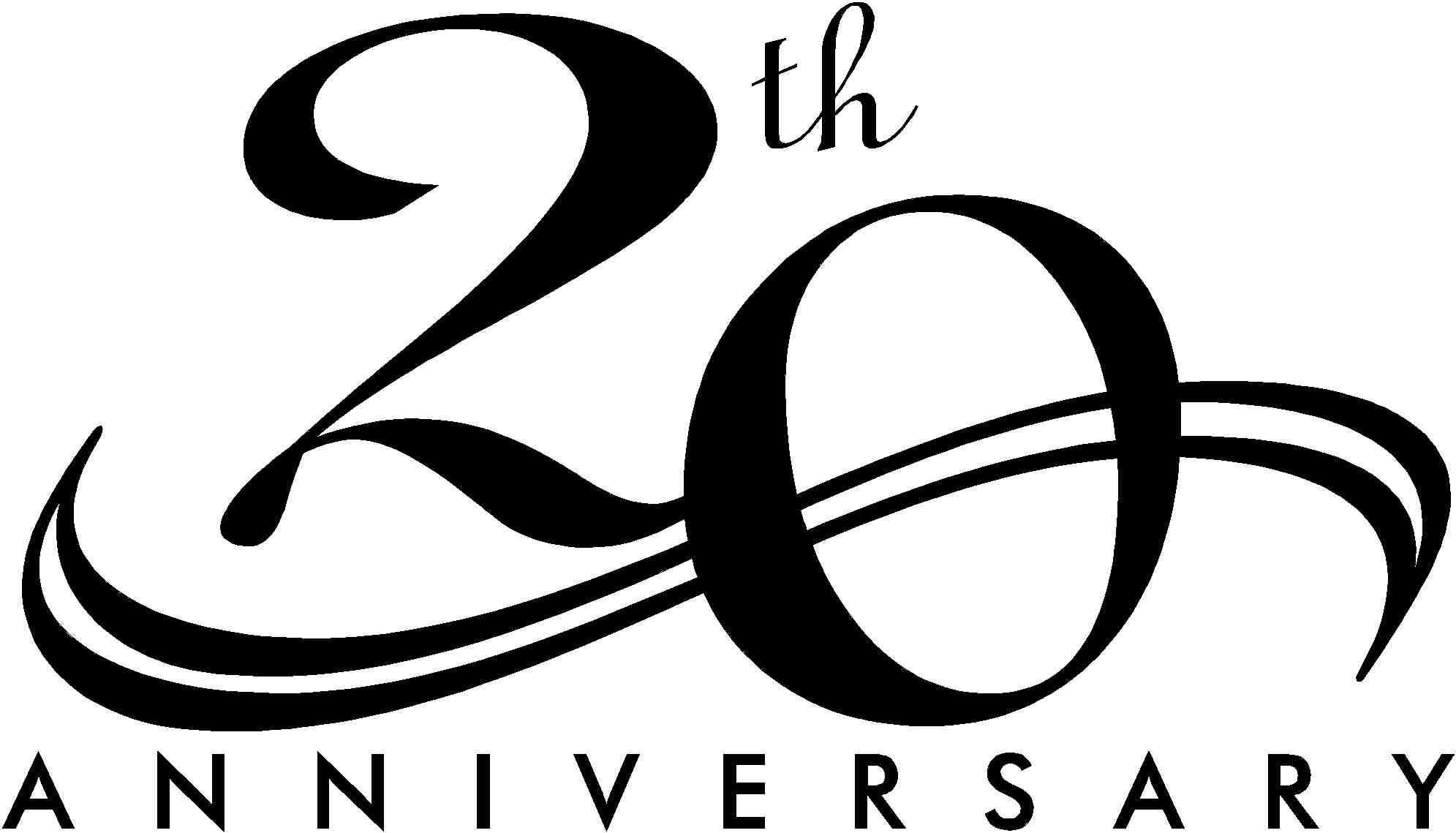 20 Year Anniversary Clipart.