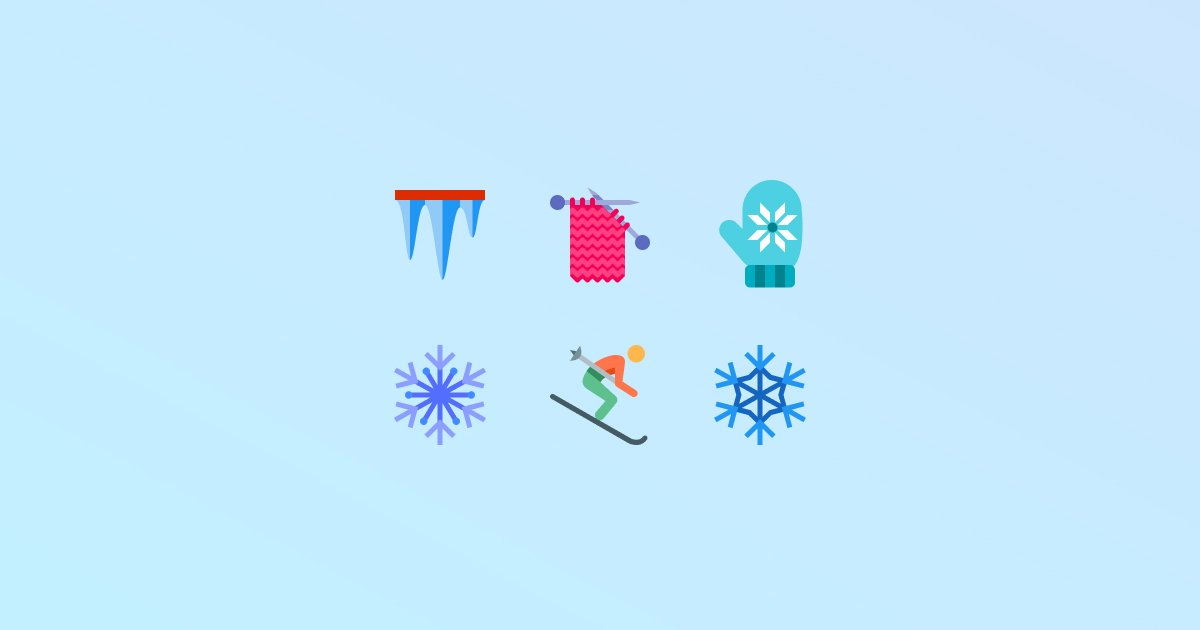 Frost and Snow: 20 Packs of Free Winter Clipart and Icons.