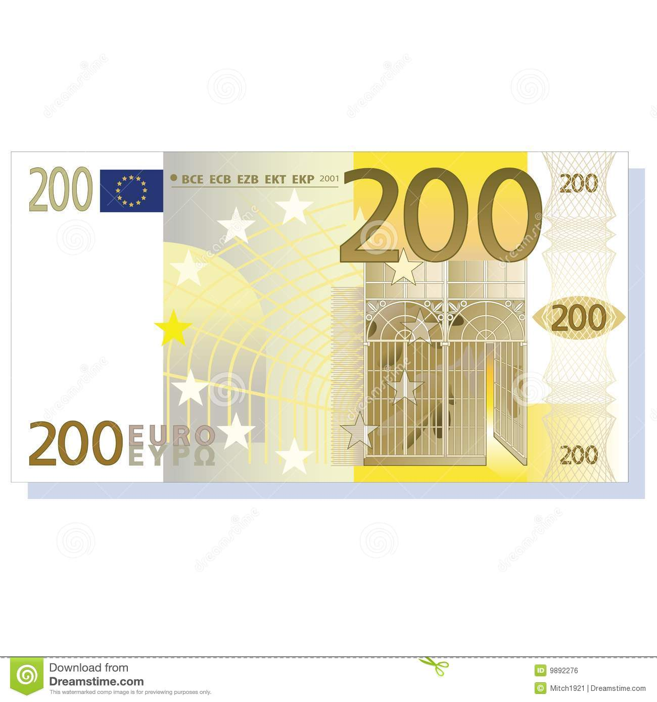 Euro Banknote Royalty Free Stock Image.