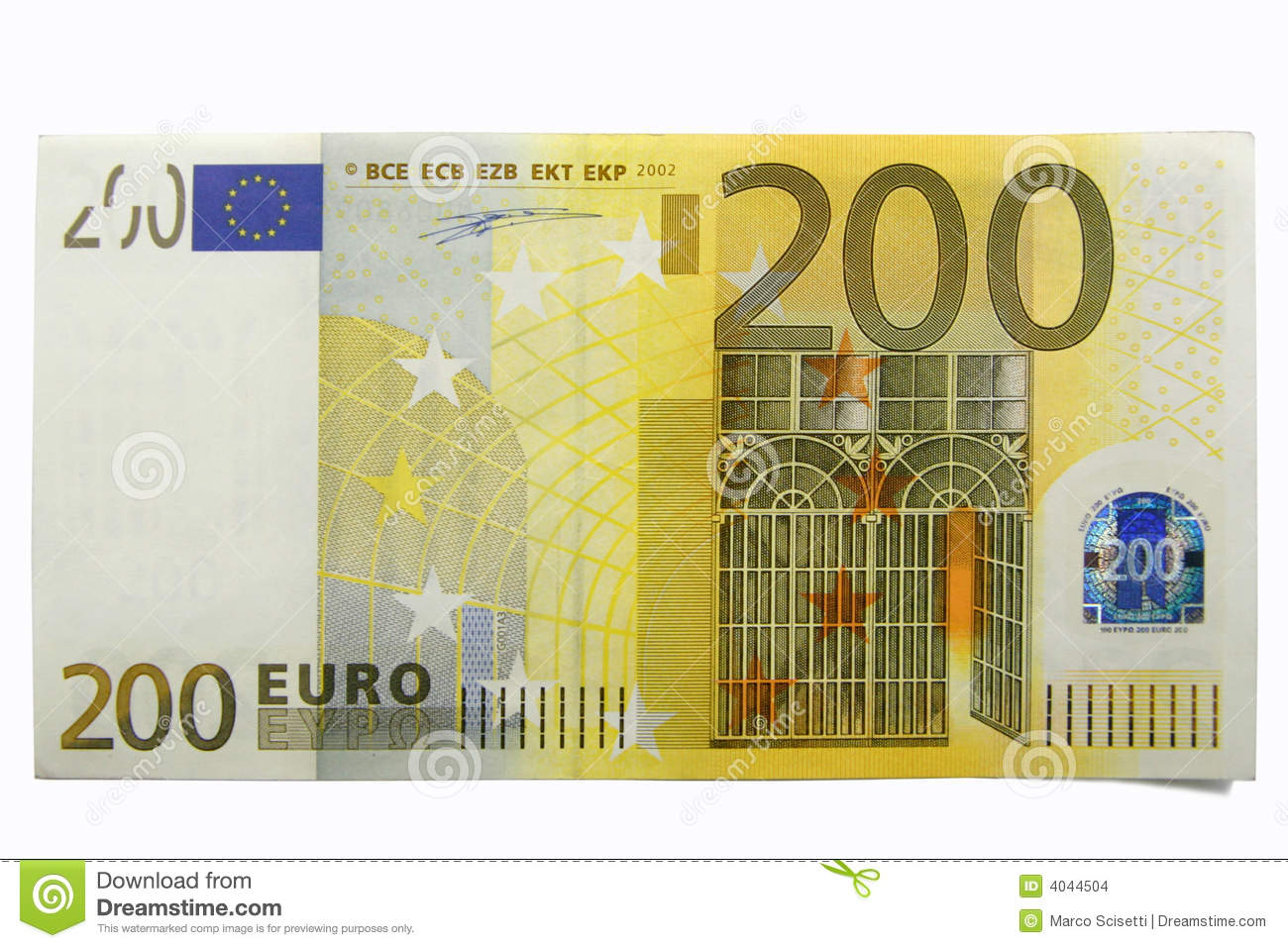 200 Euro, Two Hundred Stock Images.