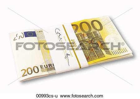Stock Images of 200 Euro banknotes 00993cs.