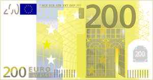 200 Euro Note.