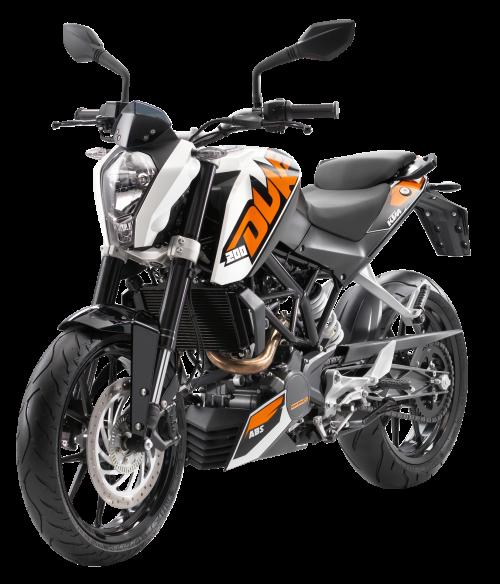 KTM 200 Duke Motorcycle Racing Bike PNG Image.