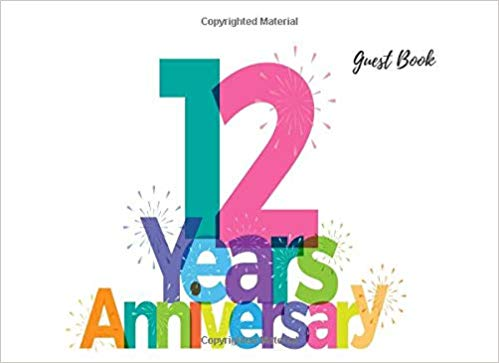 Amazon.com: 12 Years Anniversary Guest Book: Guest Book For.