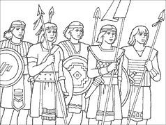 Image result for stripling warriors coloring page.