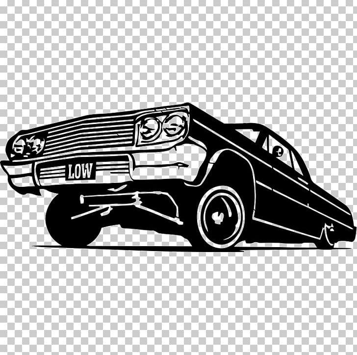 Chevrolet Impala Vintage Car Lowrider PNG, Clipart.