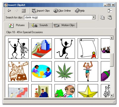 Ms office 2003 clip art.