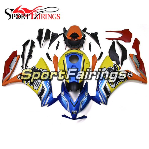Full Fairings For Honda CBR1000RR 2012 2013 2014 2015 Complete Fairings ABS  Injection Motorcycle Hulls Blue Yellow Orange Stereo For Motorcycle.
