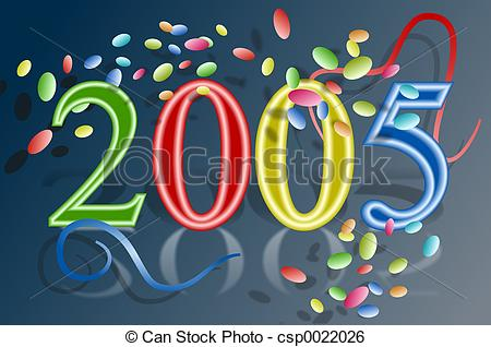 Stock Illustration of 2005.
