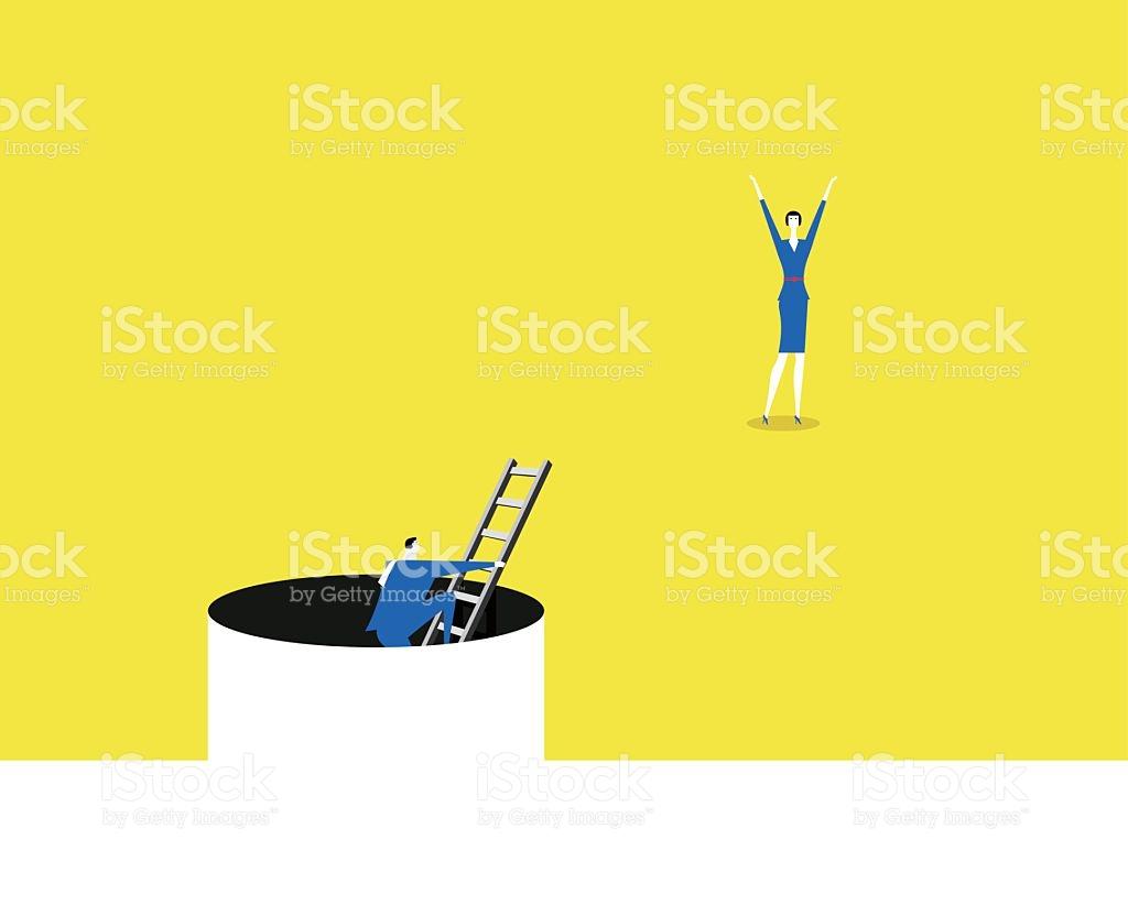 Overcoming Adversity stock vector art 522005526.