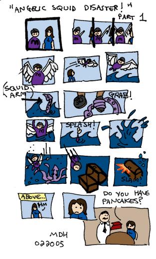 angelic squid disaster (part 1 of ?) / root beer comics.