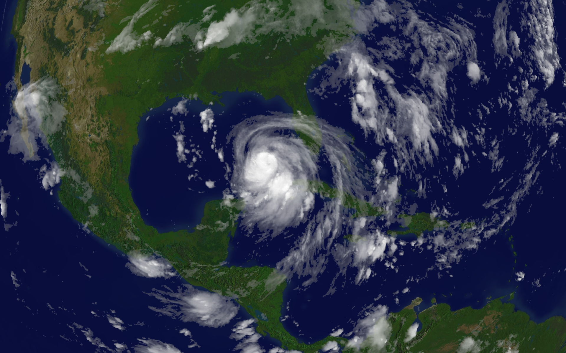 Satellite Image of Hurricane Katrina On August 27, 2005.