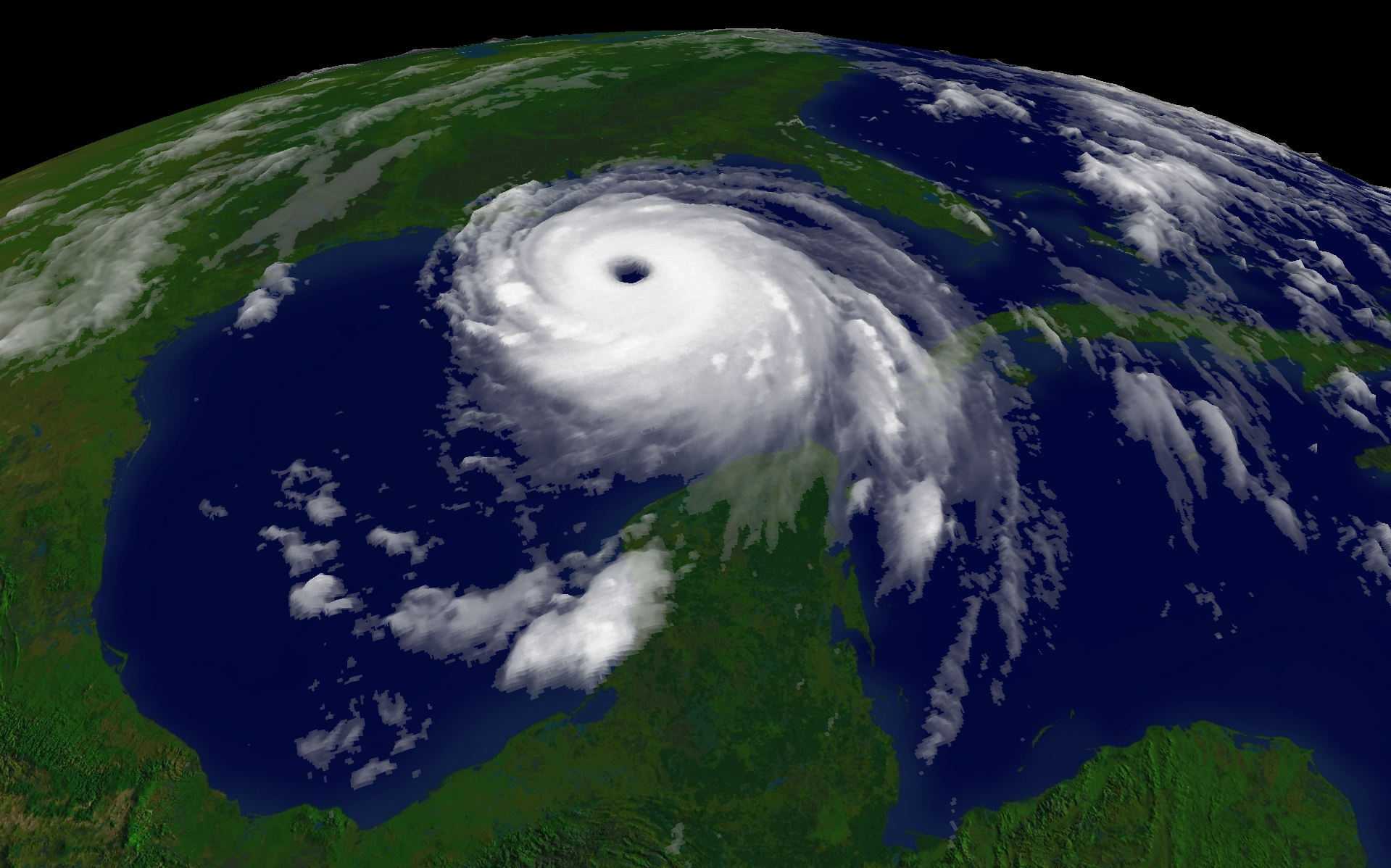 Satellite Images of Hurricane Katrina.