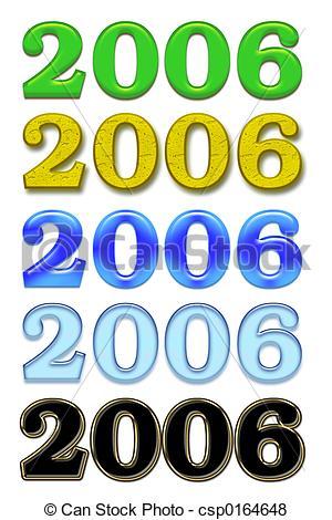 Stock Illustration of 2006 Year variations. Isolated csp0164648.