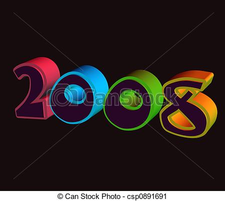 Clipart of 2008.