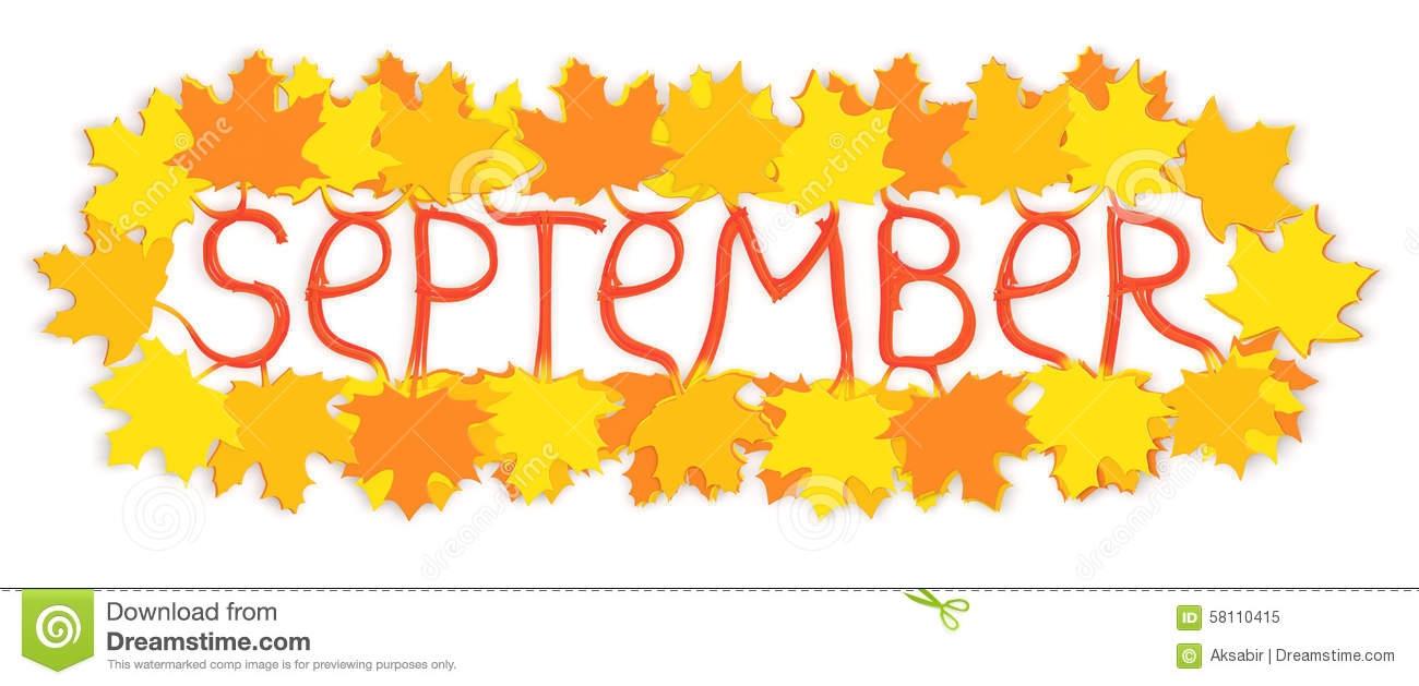 September 2008 calendar clipart.
