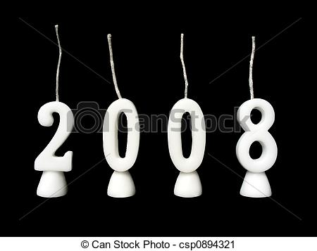 Clipart of New Year 2008.