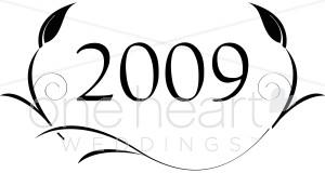 2009 Wedding Clip Art.