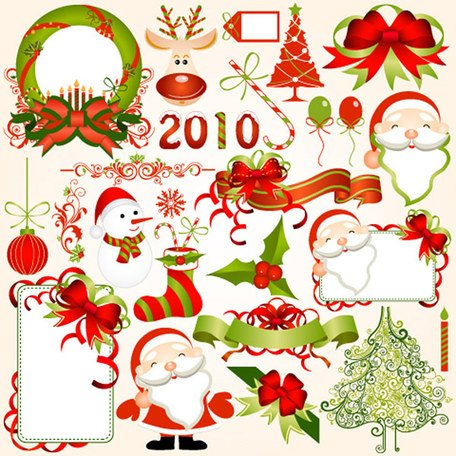 Free 2010 Christmas elements Clipart and Vector Graphics.