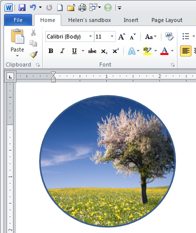 Shape images and Clip Art in Word 2010 « projectwoman.com.
