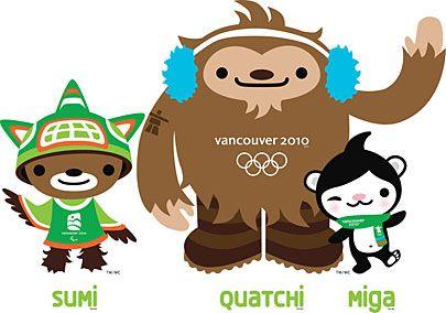 Vancouver 2010 Olympics mascots.
