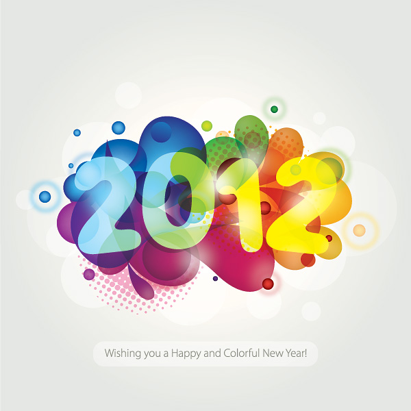 New year clipart 2012.
