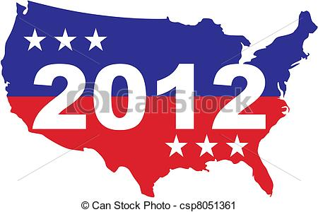 Vector Clip Art of US Election 2012.
