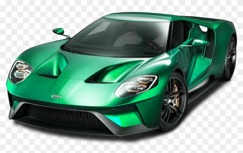Green Sports Car.