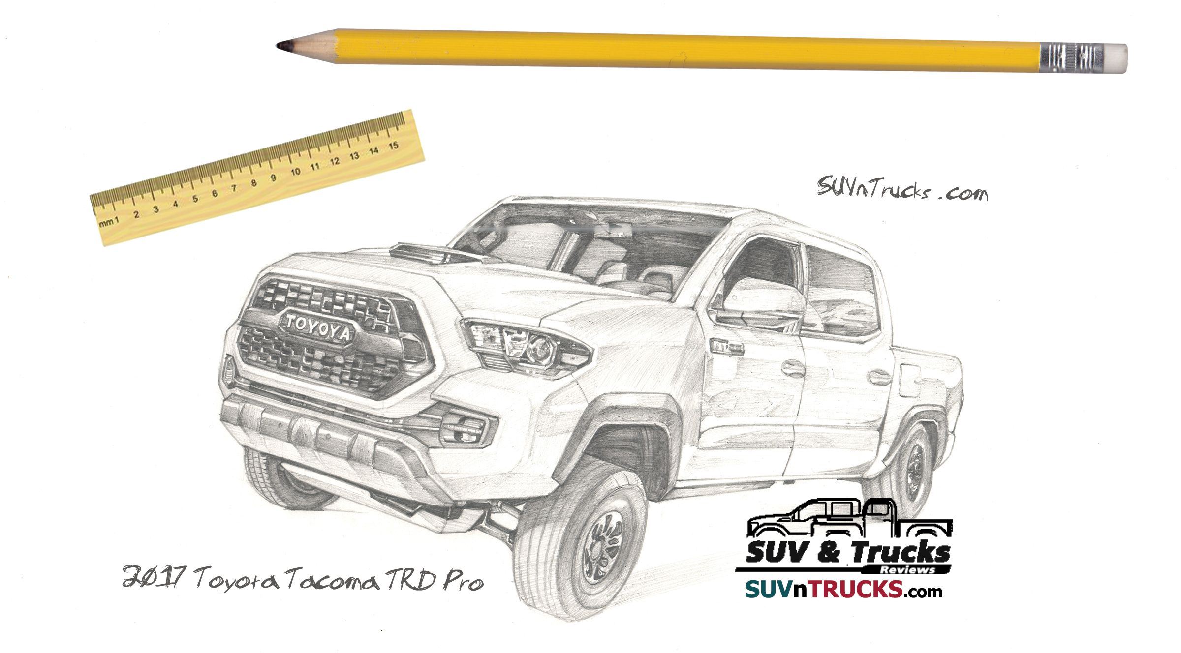 I Draw New 2017 Toyota Tacoma TRD Pro in 2019.
