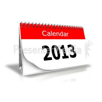 2013 Calendar Clipart.