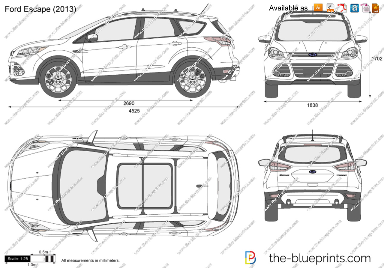 Ford Escape vector drawing.