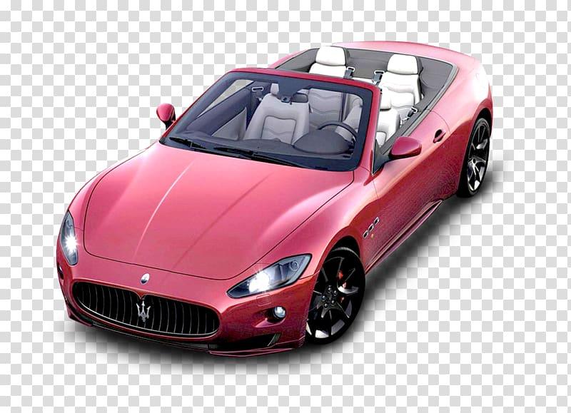 Pink Maserati convertible coupe, 2012 Maserati GranTurismo.